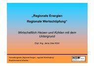 Geothermie, wirtschaftlich Heizen und Kühlen - im ...