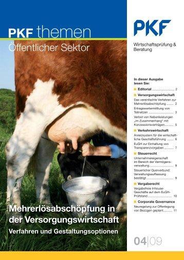 Heft 4 12/2009 Mehrerlösabschöpfung in der ... - PKF