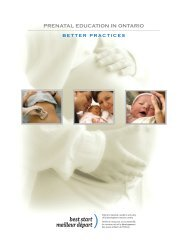 Prenatal Education in Ontario – Better Practices