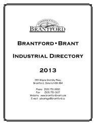 2013 BrantfordBrant Industrial Directory - City of Brantford