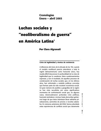 neoliberalismo de guerra - Hecho Histórico