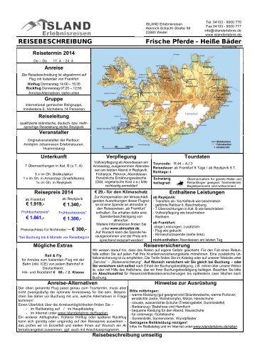Heiße Bäder - ISLAND Erlebnisreisen
