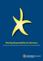 Sharing Responsibility for Recovery - Queensland Health