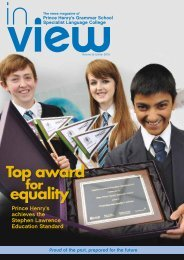 Top award equality - Prince Henrys Grammar School
