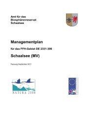 Managementplan Schaalsee (MV) - im Biosphärenreservat Schaalsee