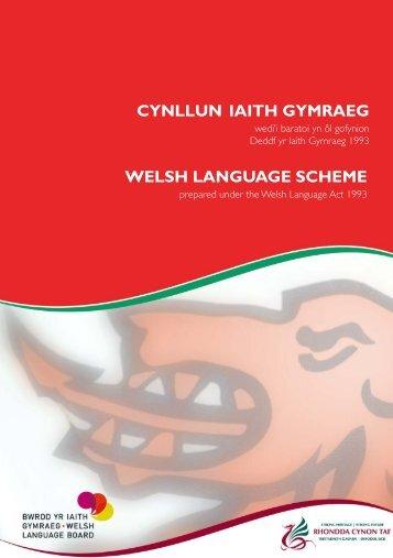 Cynllun Iaith Gymraeg - Rhondda Cynon Taf