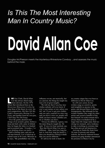 Is This The Most Interesting Man In Country Music? - David Allan Coe