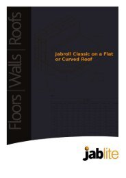 Jabroll Classic on a Flat or Curved Roof - Jablite