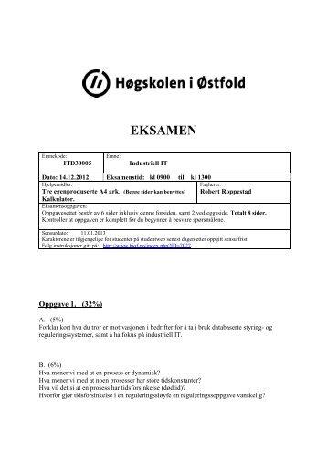 Eksamen des 2012. (pdf) - Avdeling for informasjonsteknologi