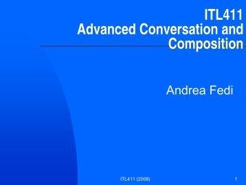 ITL411 Advanced Conversation and Composition - campo7.com