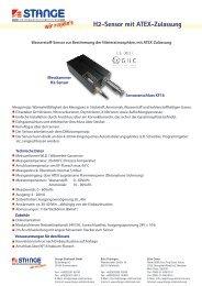 H2-Sensor mit ATEX-Zulassung - Stange Elektronik GmbH