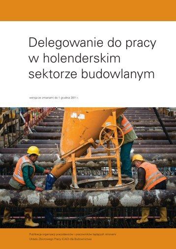 Dla zagranicznych przedsiębiorstw budowlanych, zagranicznych ...