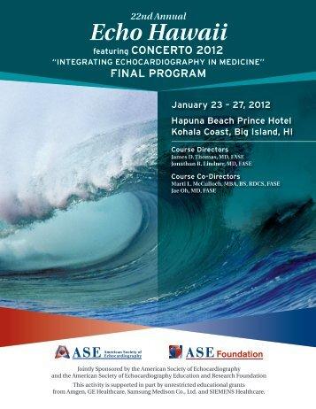 22nd Annual Echo Hawaii - American Society of Echocardiography