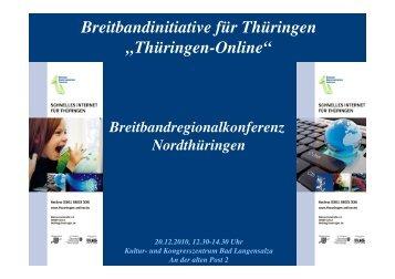 Vortrag Bad Langensalza - Breitbandkompetenzzentrum Thüringen