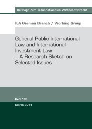 General Public International Law and International Investment Law ...