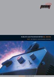 ROBUSTE ELEKTRODENINVERTER EL 250/350 - Rehm