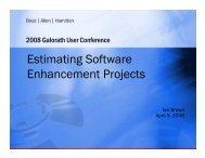 Estimating Software Enhancement Projects - Galorath