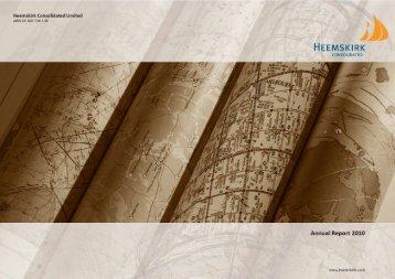 Annual Report 2010 - Heemskirk
