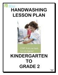 handwashing lesson plan kindergarten to grade 2 - Algoma Public ...