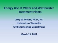 Energy Conservation in Water and Wastewater Treatment