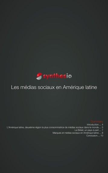Les médias sociaux en Amérique latine - Synthesio