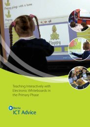 Teaching interactivity with electronic whiteboards in primary phase