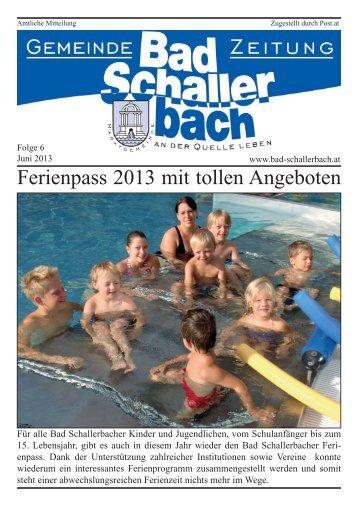Folge 6.indd - Gemeinde Bad Schallerbach