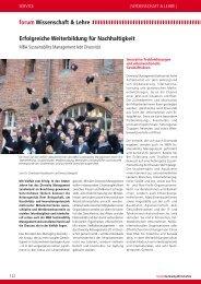 Forum Nachhaltig Wirtschaften. Das Entscheider-Magazin, Dr ...