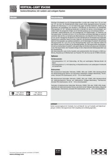 VERTICAL-LIGHT VS4300 - Zweifel Storen, Guilbert Storen
