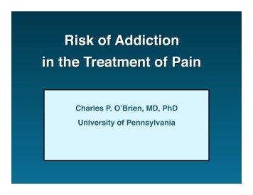 Charles P. O'Brien, MD, PhD University of Pennsylvania - immpact