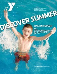YmCa in huDSon, Wi [PDF] - YMCAs