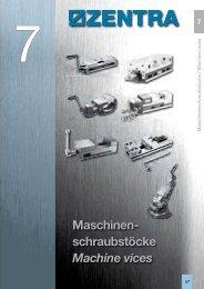 Maschinen- schraubstöcke Machine vices