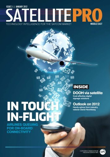In touch In-flIght - Broadcastpro Middle East