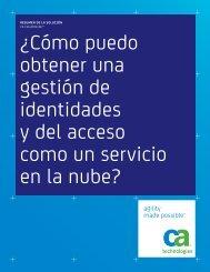¿Cómo puedo obtener una gestión de identidades y del ... - ARCserve