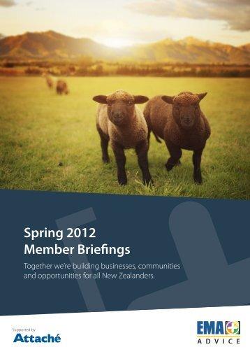 Spring 2012 Member Briefings - EMA