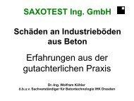 Schäden im konstruktiven Ingenieurbau - saxotest.de