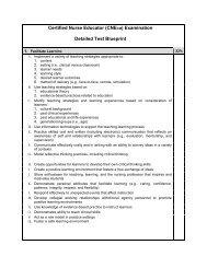 Detailed Test Blueprint - National League for Nursing