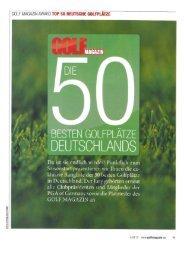 golf magazin award top 50 deutsche golfplätze - Der Golf- und Land ...