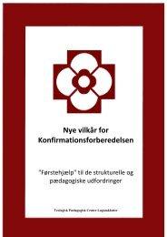 Nye vilkår for Konfirmationsforberedelsen - Teologisk Pædagogisk ...