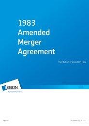 1983 Amended Merger Agreement - Aegon