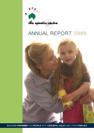 Annual Report 2005: Pages 1-15 - Cerebral Palsy Alliance