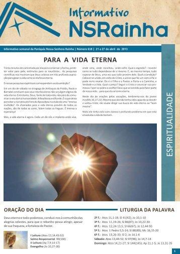 Informativo Semanal 618.pdf - PARóQUIA NOSSA SENHORA ...