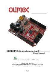 OLIMEXINO-328 development board Users Manual
