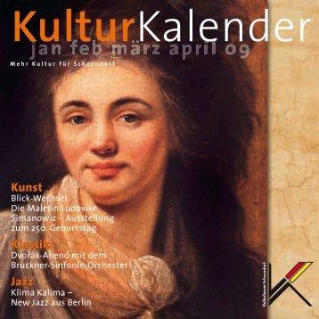KulturKalender 1/2009 - Kulturforum Schorndorf