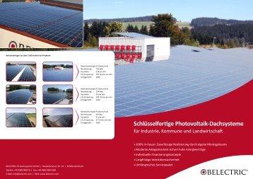 Schlüsselfertige Photovoltaik-Dachsysteme - Belectric