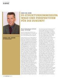 sv-strukturkommission: wege und perspektiven für die zukunft