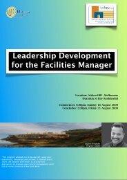 TEFMA LDFM brochure - Tertiary Education Facilities Management ...