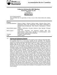 Minutes - October 26, 2011 - Avon Maitland District School Board