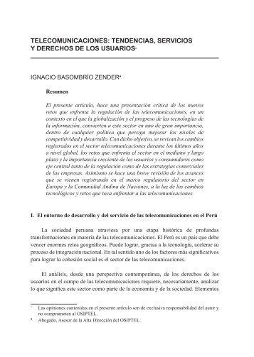 Telecomunicaciones: tendencias, servicios y derechos de los usuarios