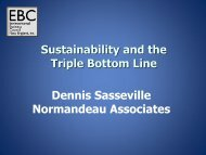 Sustainability and the Triple Bottom Line Dennis Sasseville ...